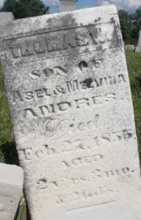 ANDRES, THOMAS - Montgomery County, Ohio | THOMAS ANDRES - Ohio Gravestone Photos