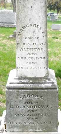 ANDREWS, MARGARET E. - Montgomery County, Ohio | MARGARET E. ANDREWS - Ohio Gravestone Photos
