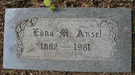 ANSEL, EDNA M. - Montgomery County, Ohio | EDNA M. ANSEL - Ohio Gravestone Photos
