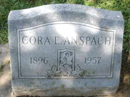 ANSPACH, CORA E. - Montgomery County, Ohio | CORA E. ANSPACH - Ohio Gravestone Photos