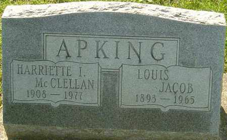 MCCLELLAN APKING, HARRIETTE - Montgomery County, Ohio | HARRIETTE MCCLELLAN APKING - Ohio Gravestone Photos