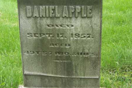 APPLE, DANIEL - Montgomery County, Ohio | DANIEL APPLE - Ohio Gravestone Photos