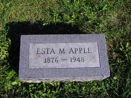 APPLE, ESTA M - Montgomery County, Ohio | ESTA M APPLE - Ohio Gravestone Photos