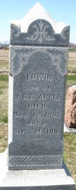 APPLE, EDWIN - Montgomery County, Ohio | EDWIN APPLE - Ohio Gravestone Photos