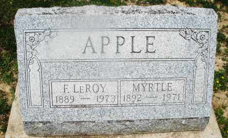 APPLE, F. LEROY - Montgomery County, Ohio | F. LEROY APPLE - Ohio Gravestone Photos
