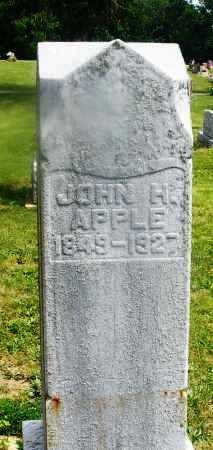APPLE, JOHN H. - Montgomery County, Ohio | JOHN H. APPLE - Ohio Gravestone Photos