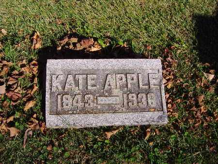 LINDEMUTH APPLE, KATE - Montgomery County, Ohio | KATE LINDEMUTH APPLE - Ohio Gravestone Photos