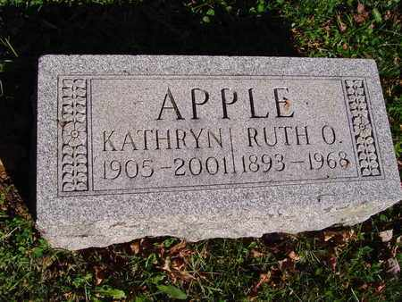 APPLE, KATHRYN - Montgomery County, Ohio | KATHRYN APPLE - Ohio Gravestone Photos
