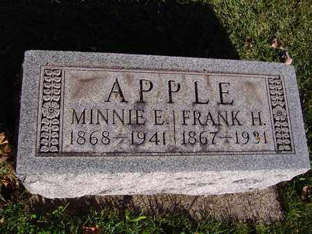 APPLE, MINNIE E - Montgomery County, Ohio | MINNIE E APPLE - Ohio Gravestone Photos