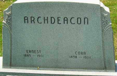 ARCHDEACON, ERNEST - Montgomery County, Ohio | ERNEST ARCHDEACON - Ohio Gravestone Photos