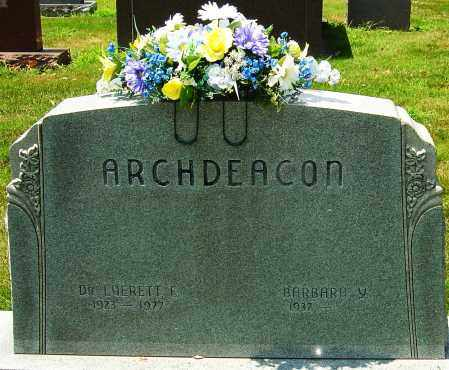 ARCHDEACON, EVERETT - Montgomery County, Ohio | EVERETT ARCHDEACON - Ohio Gravestone Photos
