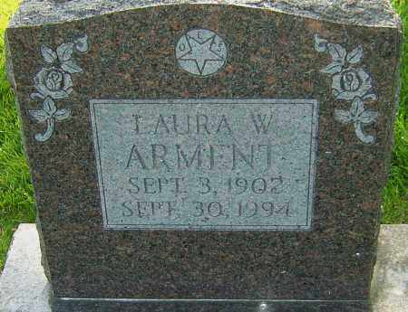 ARMENT, LAURA W - Montgomery County, Ohio | LAURA W ARMENT - Ohio Gravestone Photos