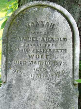 ARNOLD, HANNAH - Montgomery County, Ohio | HANNAH ARNOLD - Ohio Gravestone Photos