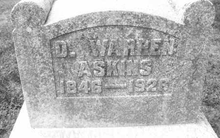 ASKINS, DANIEL WARREN - Montgomery County, Ohio | DANIEL WARREN ASKINS - Ohio Gravestone Photos