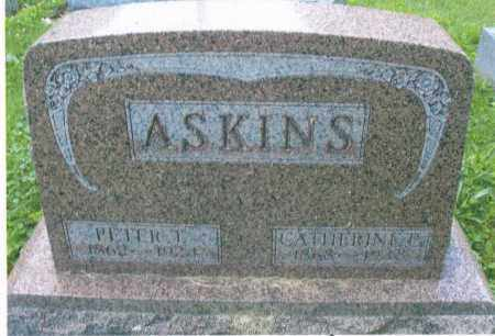 ASKINS, CATHERINE 1868-1918 - Montgomery County, Ohio | CATHERINE 1868-1918 ASKINS - Ohio Gravestone Photos