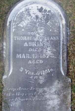 ASKINS, THOMAS LEONARD - Montgomery County, Ohio | THOMAS LEONARD ASKINS - Ohio Gravestone Photos
