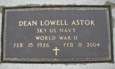 ASTOR, DEAN LOWELL - Montgomery County, Ohio | DEAN LOWELL ASTOR - Ohio Gravestone Photos