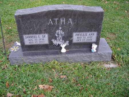 ATHA, PHYLLIS ANN - Montgomery County, Ohio | PHYLLIS ANN ATHA - Ohio Gravestone Photos