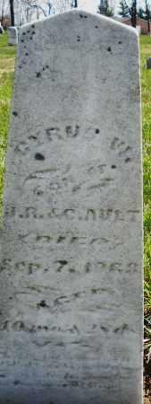 AULT, CYRUS W. - Montgomery County, Ohio | CYRUS W. AULT - Ohio Gravestone Photos