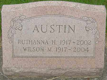 HATFIELD AUSTIN, RUTHANNA - Montgomery County, Ohio | RUTHANNA HATFIELD AUSTIN - Ohio Gravestone Photos