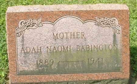 BABINGTON, ADAH NAOMI - Montgomery County, Ohio | ADAH NAOMI BABINGTON - Ohio Gravestone Photos