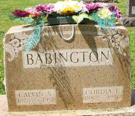 BABINGTON, CALVIN S. - Montgomery County, Ohio | CALVIN S. BABINGTON - Ohio Gravestone Photos