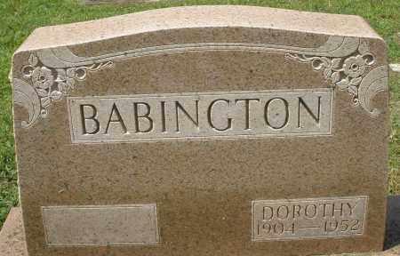 BABINGTON, DOROTHY - Montgomery County, Ohio | DOROTHY BABINGTON - Ohio Gravestone Photos