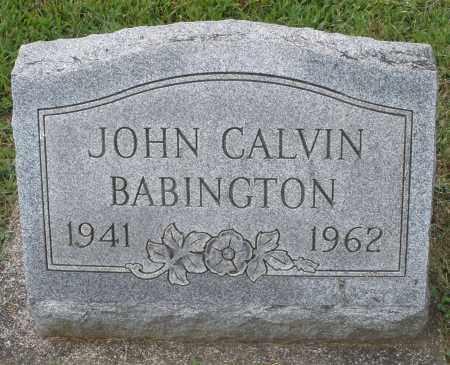 BABINGTON, JOHN CALVIN - Montgomery County, Ohio | JOHN CALVIN BABINGTON - Ohio Gravestone Photos