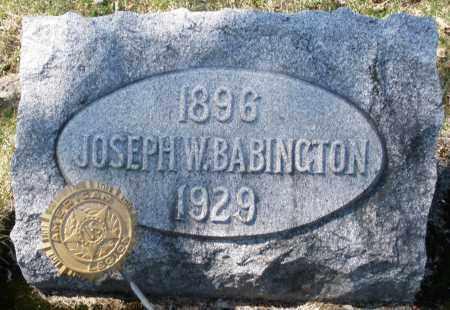 BABINGTON, JOSEPH W. - Montgomery County, Ohio | JOSEPH W. BABINGTON - Ohio Gravestone Photos