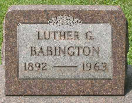 BABINGTON, LUTHER G. - Montgomery County, Ohio | LUTHER G. BABINGTON - Ohio Gravestone Photos