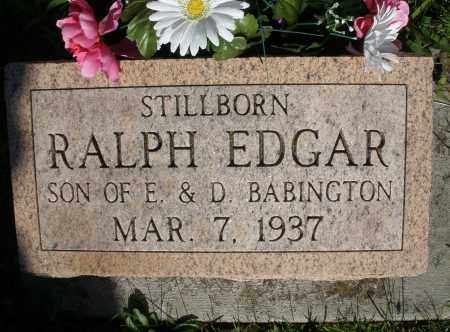 BABINGTON, RALPH EDGAR - Montgomery County, Ohio | RALPH EDGAR BABINGTON - Ohio Gravestone Photos