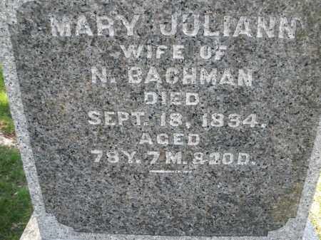 BACHMAN, MARY JULIANN - Montgomery County, Ohio | MARY JULIANN BACHMAN - Ohio Gravestone Photos