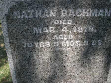 BACHMAN, NATHAN - Montgomery County, Ohio | NATHAN BACHMAN - Ohio Gravestone Photos