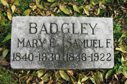 BADGLEY, MARY E. - Montgomery County, Ohio | MARY E. BADGLEY - Ohio Gravestone Photos