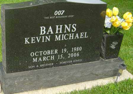 BAHNS, KEVIN MICHAEL - Montgomery County, Ohio | KEVIN MICHAEL BAHNS - Ohio Gravestone Photos