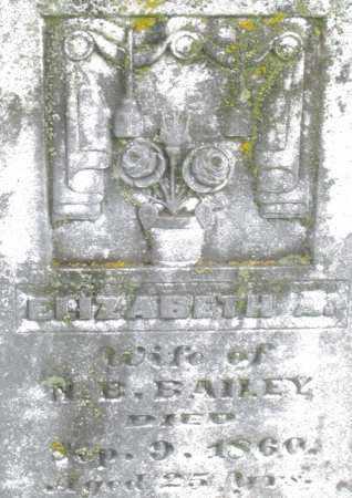 BAILEY, ELIZABETH - Montgomery County, Ohio   ELIZABETH BAILEY - Ohio Gravestone Photos