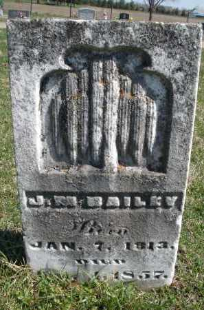 BAILEY, J. M. - Montgomery County, Ohio | J. M. BAILEY - Ohio Gravestone Photos