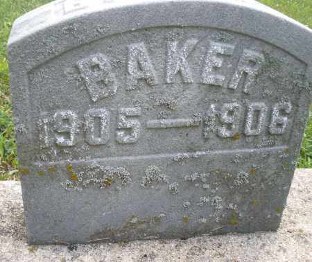 BAKER, BABY - Montgomery County, Ohio | BABY BAKER - Ohio Gravestone Photos
