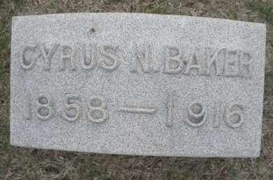 BAKER, CYRUS N. - Montgomery County, Ohio | CYRUS N. BAKER - Ohio Gravestone Photos