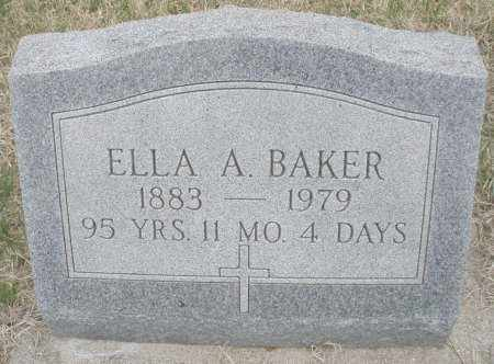 BAKER, ELLA A. - Montgomery County, Ohio | ELLA A. BAKER - Ohio Gravestone Photos