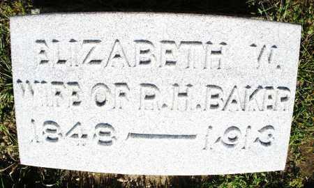 BAKER, ELIZABETH W. - Montgomery County, Ohio | ELIZABETH W. BAKER - Ohio Gravestone Photos