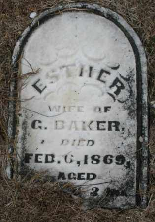 BAKER, ESTHER - Montgomery County, Ohio | ESTHER BAKER - Ohio Gravestone Photos