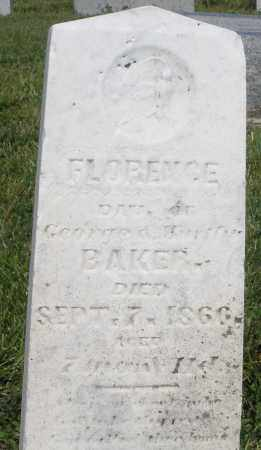 BAKER, FLORENCE - Montgomery County, Ohio | FLORENCE BAKER - Ohio Gravestone Photos