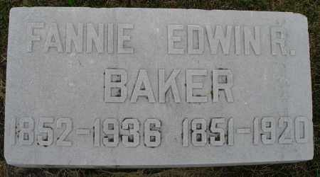 BAKER, FANNIE - Montgomery County, Ohio | FANNIE BAKER - Ohio Gravestone Photos