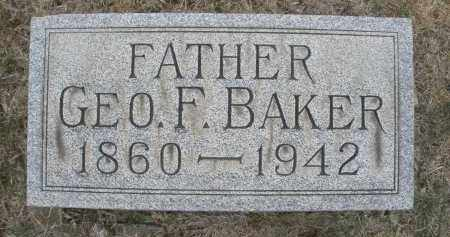 BAKER, GEORGE F. - Montgomery County, Ohio | GEORGE F. BAKER - Ohio Gravestone Photos