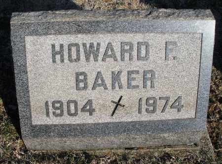 BAKER, HOWARD F. - Montgomery County, Ohio | HOWARD F. BAKER - Ohio Gravestone Photos