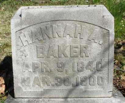 BAKER, HANNAH A. - Montgomery County, Ohio | HANNAH A. BAKER - Ohio Gravestone Photos