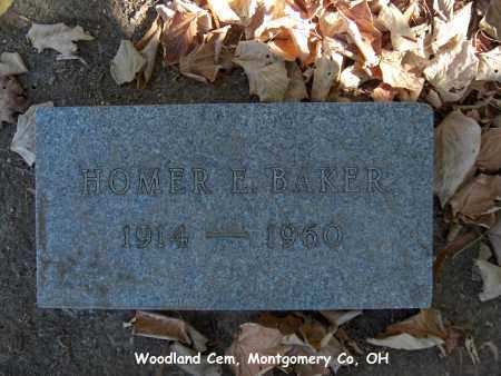 BAKER, HOMER - Montgomery County, Ohio | HOMER BAKER - Ohio Gravestone Photos
