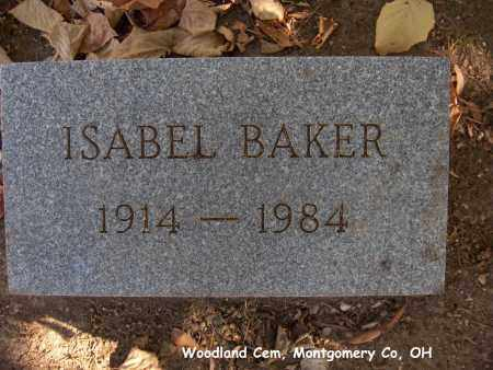 BAKER, ISABEL - Montgomery County, Ohio | ISABEL BAKER - Ohio Gravestone Photos