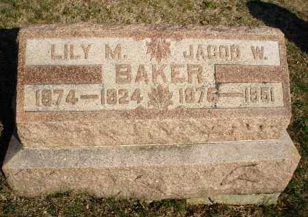 BAKER, JACOB W. - Montgomery County, Ohio | JACOB W. BAKER - Ohio Gravestone Photos